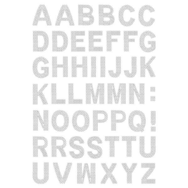 Bügelstrass-Design, DIN A4, klar, Alphabet 2