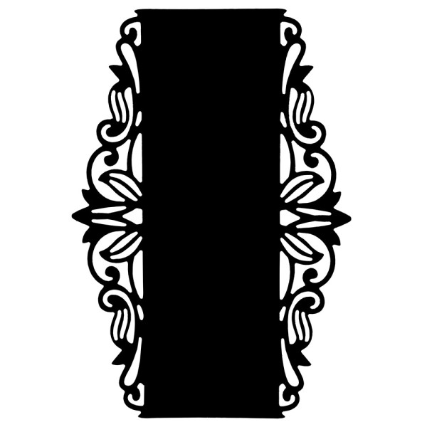 Stanzschablone, Kartenaufleger Ornament 2, 13,6 x 9,3cm
