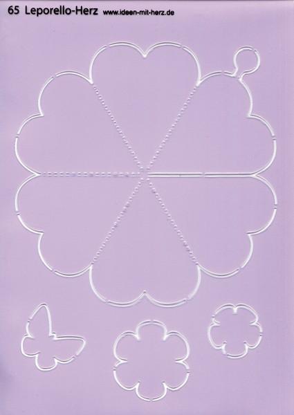 "Design-Schablone Nr. 65 ""Leporello-Herz"", DIN A4"
