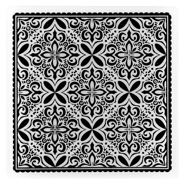 Prägeschablone, Hintergrund Ornamentik 3, 14,7cm x 14,7cm