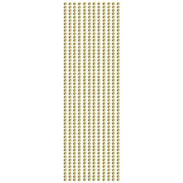 Glitzerstein-Bordüren, selbstklebend, Ø4mm, 29cm, 12 Stk., bernstein