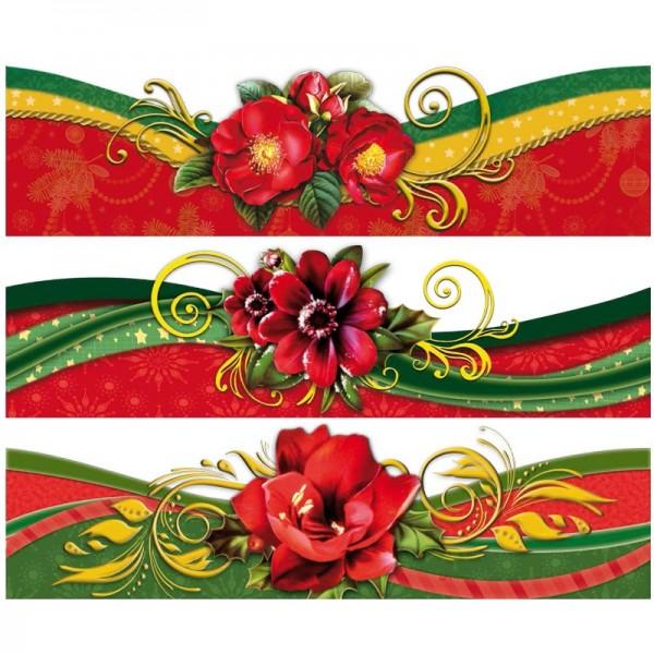 """Zauberfolien """"Winterblüten mit Schwung 1"""", Schrumpffolien für Ø10cm, 9cm hoch, 6 Stück"""