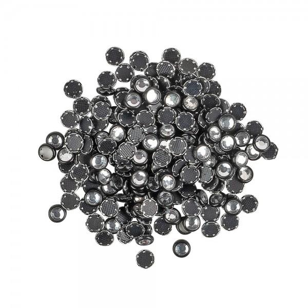 Hot-Fix Glas-Kristalle zum Aufbügeln, Ø 4mm, schwarz, 200 Stück