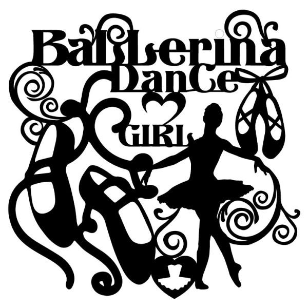 Silhouetten-Laser-Schablone, 28cm x 28cm, Ballerina