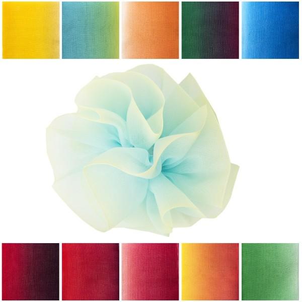 Zieh-Rüschenband, Organza mit Farbverlauf, 1m x 3,8cm, 10 Stück