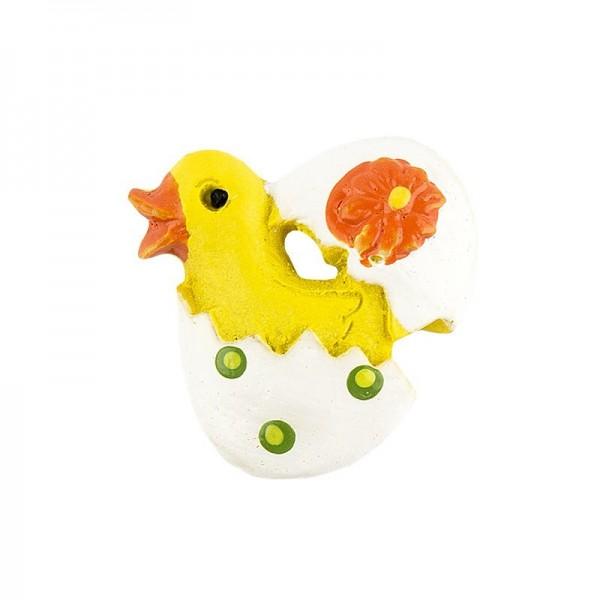 Relief-Küken im Ei, gelb, 12 Stück