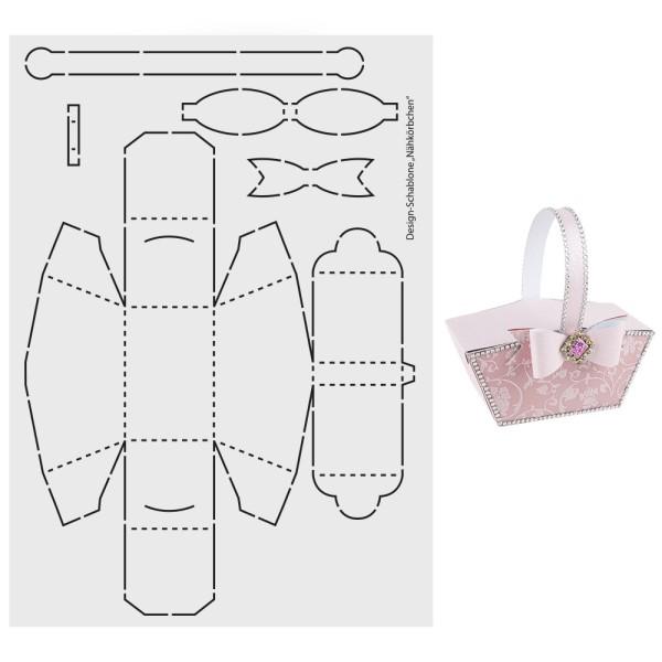 """Design-Schablone """"Nähkörbchen"""", A3"""