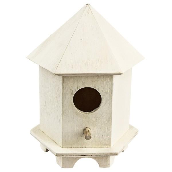 Vogelhäuschen aus Holz, Design 4, 14,5cm x 11cm x 9,5cm
