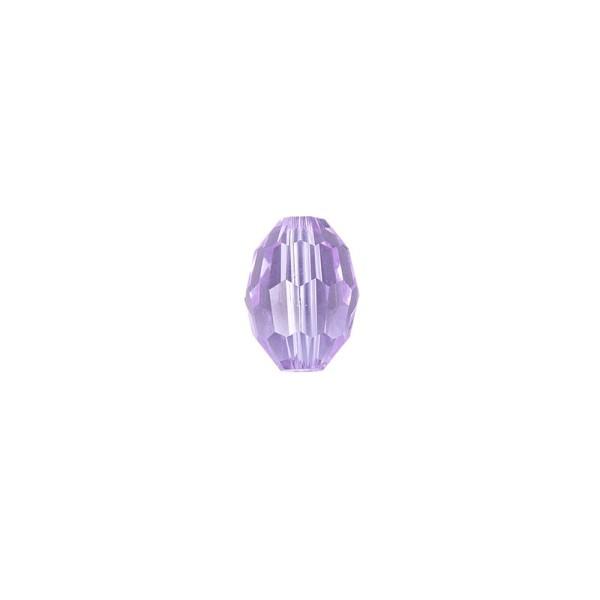 Perlen, Ovale, facettiert, 0,6cm x 0,8cm, flieder, 30 Stück