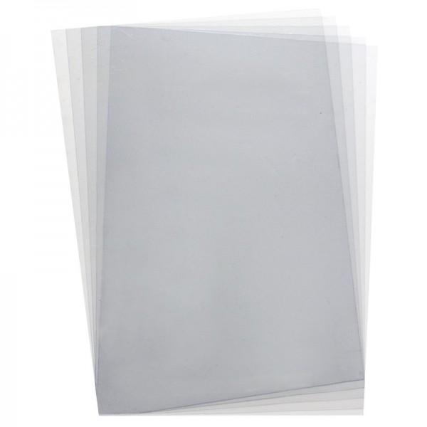 transparente Windradfolie, nichtklebend, DIN A4, 200 µ, 5 Bogen