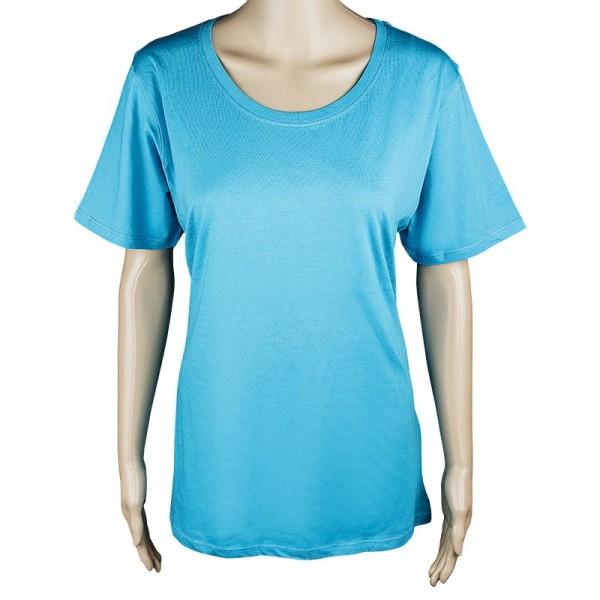 Damen T-Shirt, türkis, Größe XXL