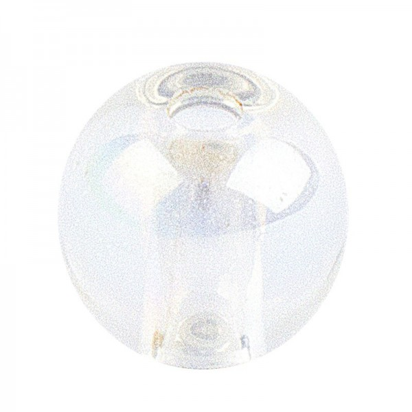 Glaskunst, Perlen, Kugel, Ø 0,8cm, klar irisierend, 100 Stück