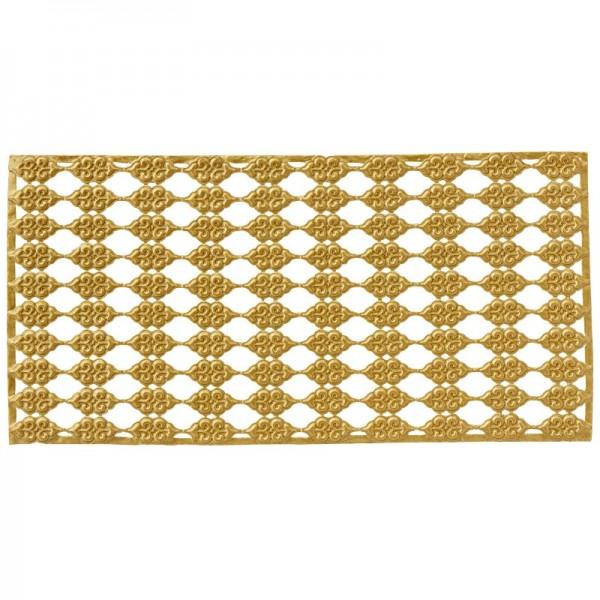 Wachs-Bordüren auf Platte, Ornamente, geprägt, gold, 20cm, 10 Stück
