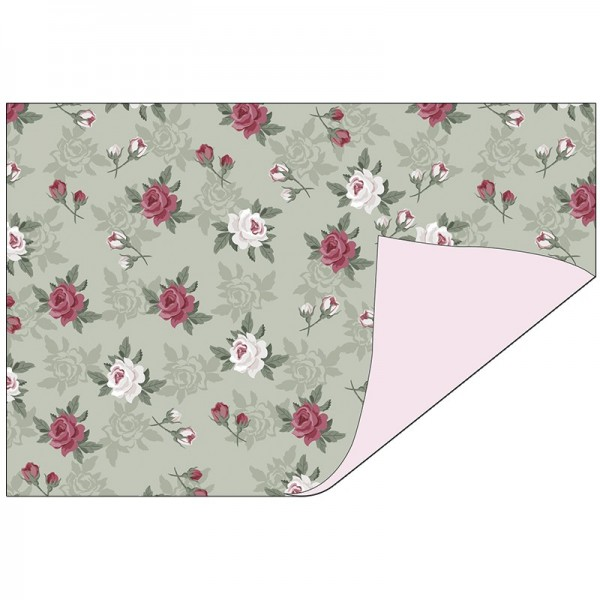 Faltpapiere Duo-Design 26, 10x15 cm, Blumen/rosa, 50 Stück