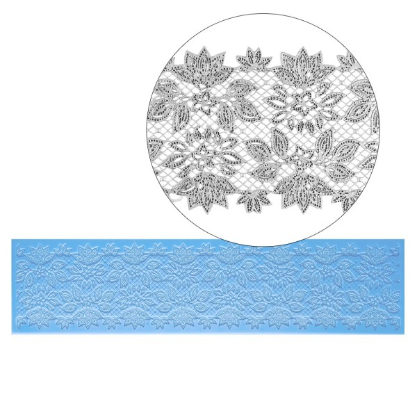 Silikon-Dekormatte, Design 6, 38,7cm x 9,7cm x 0,2cm