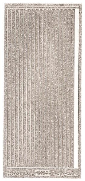 Microglitter-Sticker, Linien, 5mm, silber