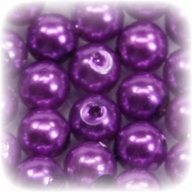 Perlen, rund, Ø6 mm, violett, 50 Stück