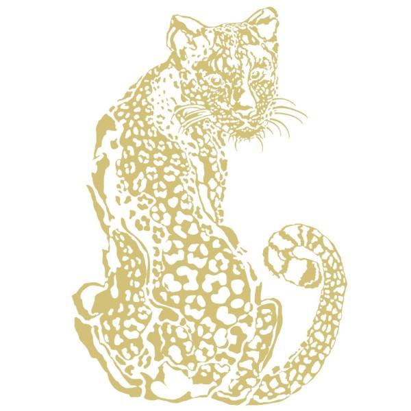 Metallic-Bügeltransfer, Leopard, DIN A4, gold glänzend