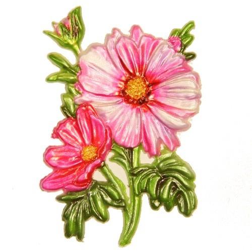 Wachsornament Windröschen, 8 x 6 cm