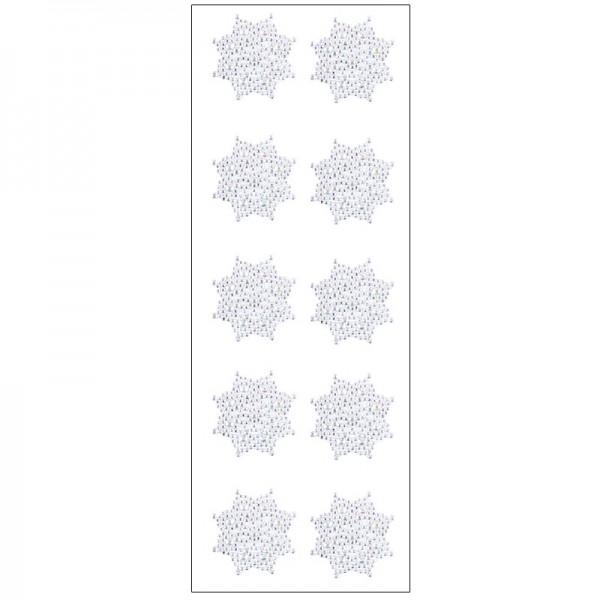 Kristallkunst, Ornament 4, selbstklebend, 10cm x 30cm, klar irisierend