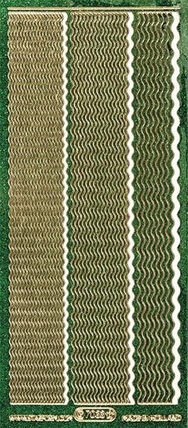 Microglitter-Sticker, Wellen-Linien, 3 Breiten, grün