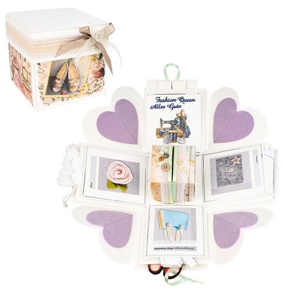 Überraschungsbox, weiß, 12,5cm x 12,5cm x 12,5cm, 24-teilig