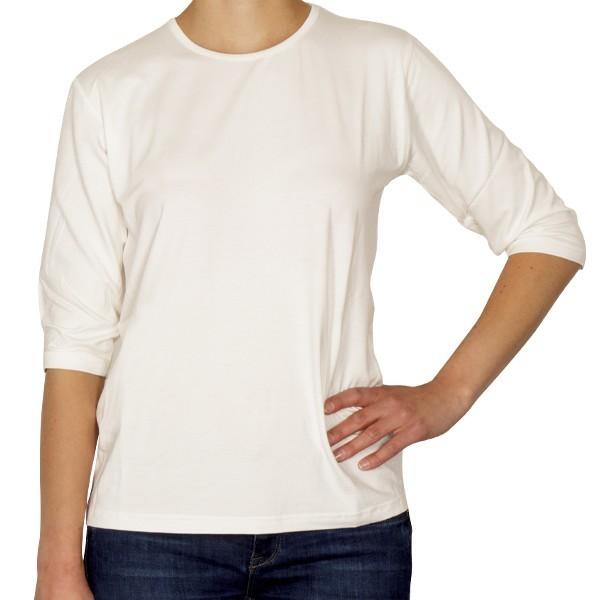 Creative Shirt, 3/4-Ärmel, naturweiß, Größe 36/38