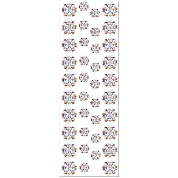 Kristallkunst, Blüte 1, 10cm x 30cm, selbstklebend, klar-irisierend