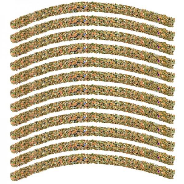 Glitzer-Tubes, flexibel, 10cm lang, Ø 0,5cm, taupe, irisierend, 12 Stück