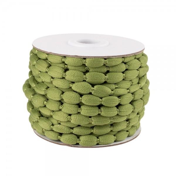 Pompon-Band, Ø 1cm, 10m, auf Rolle, grün