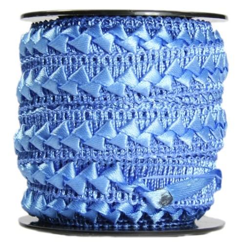 Bordürenband, Stoff, edle Dreiecke, 17mm x 10m, blau