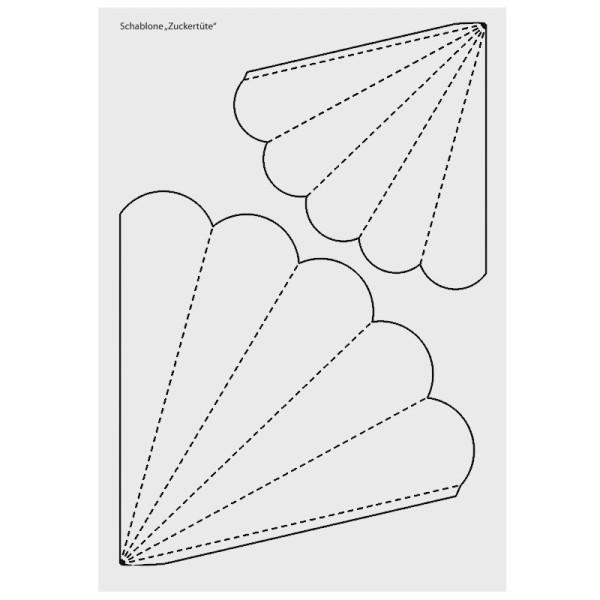 Design-Schablone, Zuckertüte/Schultüte, DIN A3
