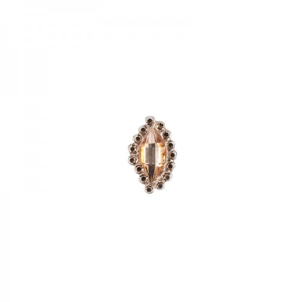Ornament-Glitzersteine, 50 Stück, Design 7, lachs