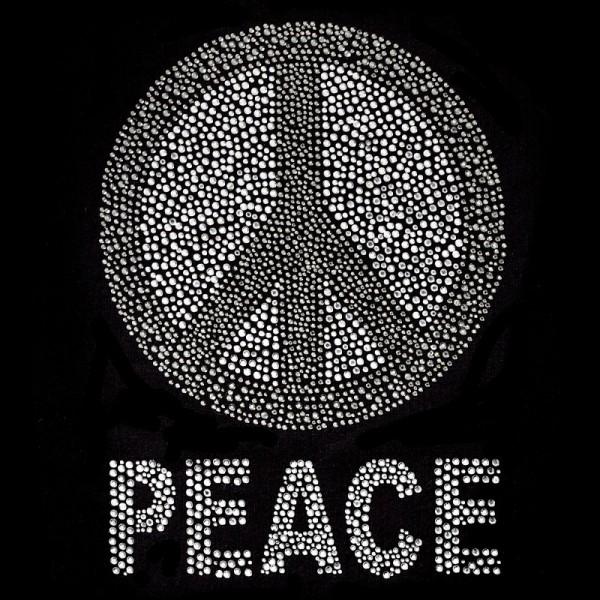 Bügelstrass-Design, DIN A4, mehrfarbig, Peace