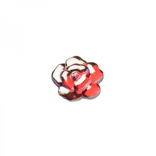 Glitzersteine, Rosen, 8 mm, 50 Stück, rot-irisierend