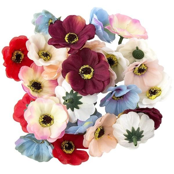 """Deko-Blüten """"Anemone"""", Ø 4,5cm, 17g, verschiedene Farben"""