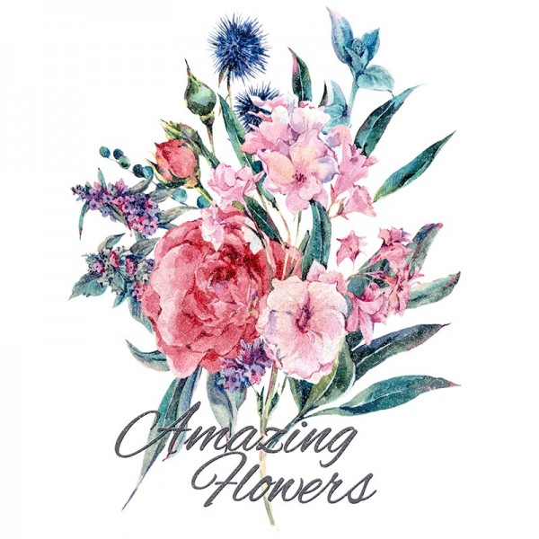 Color Bügeltransfer, Glitzer, DIN A4, Blumen 4