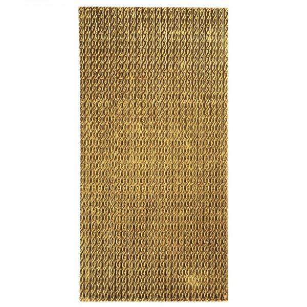 Wachsbordüren auf Platte, geprägt, gold, 20 cm, 24 Bordüren