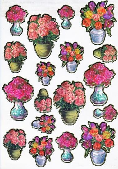 Ultra Gloss Sticker Bogen, Tulpe & Rose