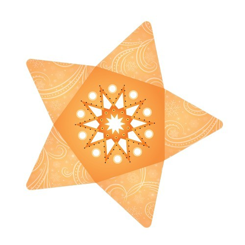 Stern-Stanzformen für 3-D Leuchtstern, 12 Stück, Design 6