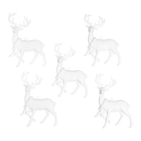 Deko-Hirsche 5, Rohlinge, 9,6cm x 12,3cm, 5 Stück