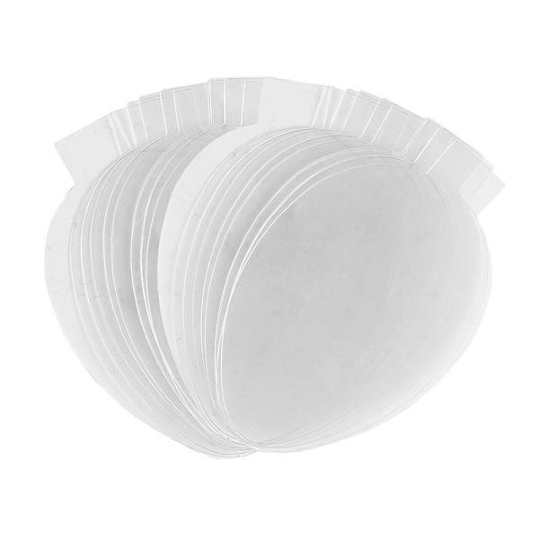 Folienscheiben, Eier, 5,9cm x 9,5cm, transparent, 200µ, 20 Stück
