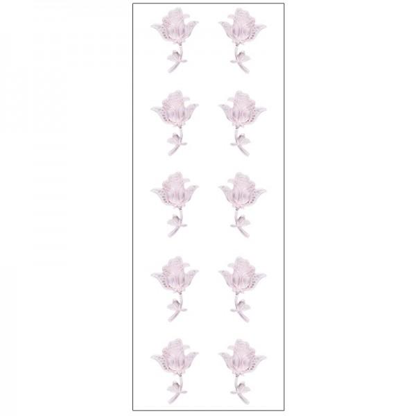 Kristallkunst, Rose, selbstklebend, 10cm x 30cm, hellrosa