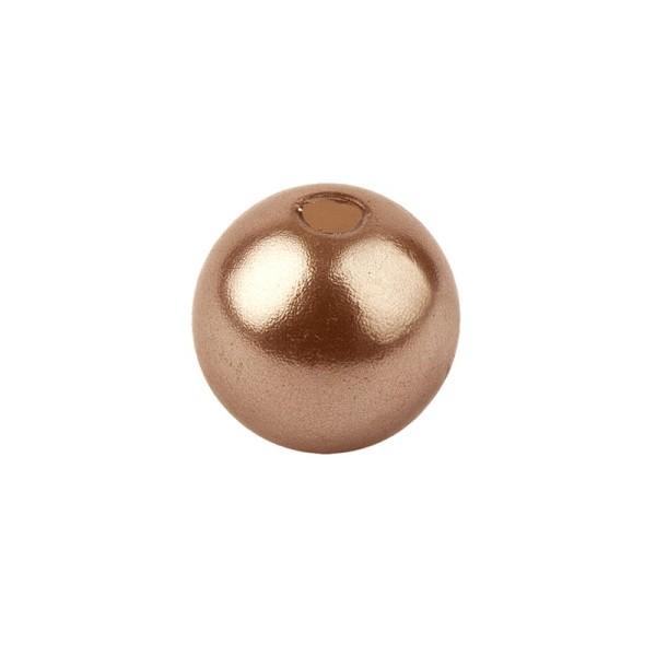 Perlmutt-Perlen, Ø8 mm, 100 Stück, antik-rosa