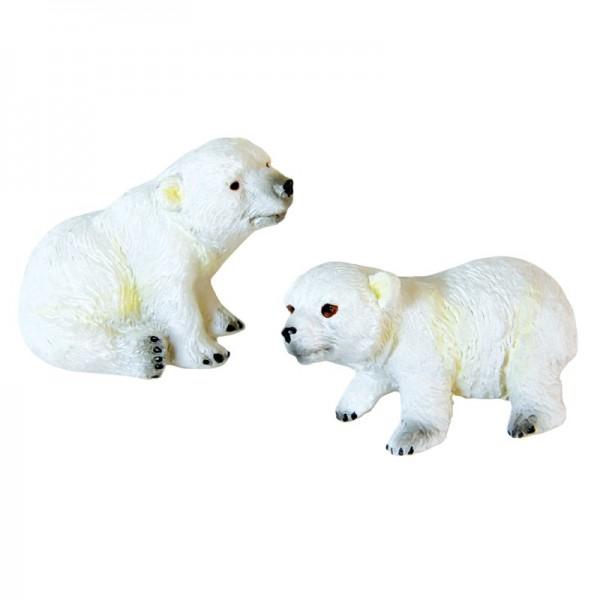 Relief-Eisbären, 6 Stück