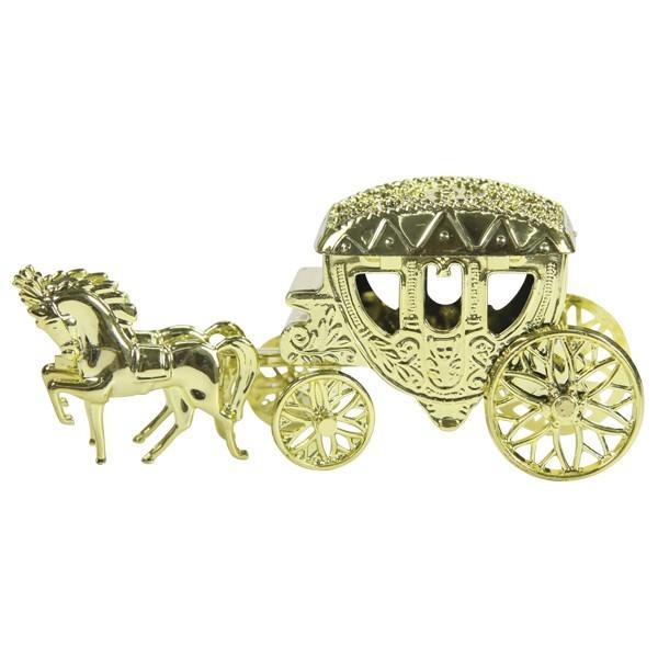 Acryl-Edel-Kutsche, 13 x 4,8 x 5,7 cm, gold