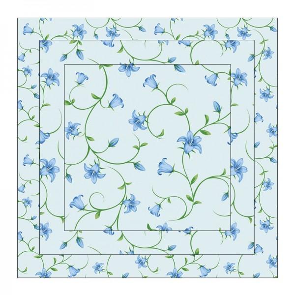 Faltpapiere, Duo-Design 2, 110 g/m², Blütenranken/blau, 150 Stück