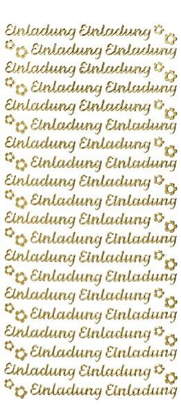 Sticker, Schrift, Einladung, gold