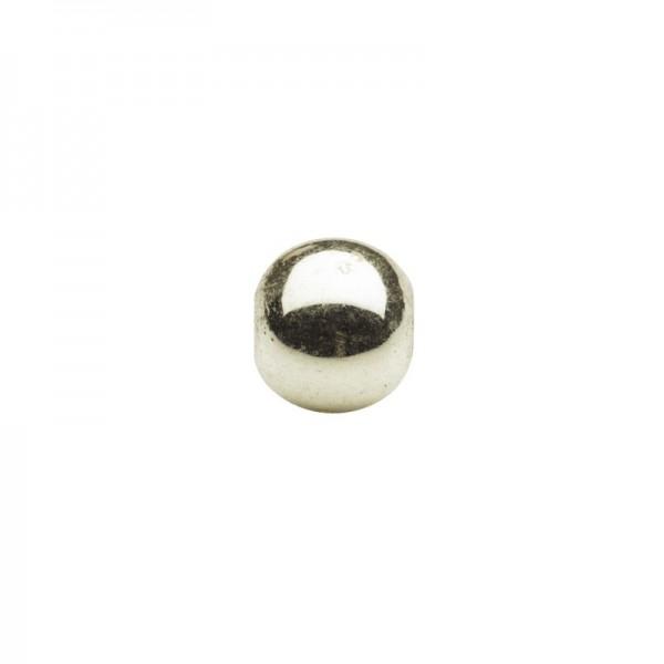 Metallic-Perlen, Ø6 mm, 50 Stück, champagner-gold