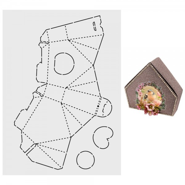 """Design-Schablone """"Vogelhaus-Box"""", DIN A3"""
